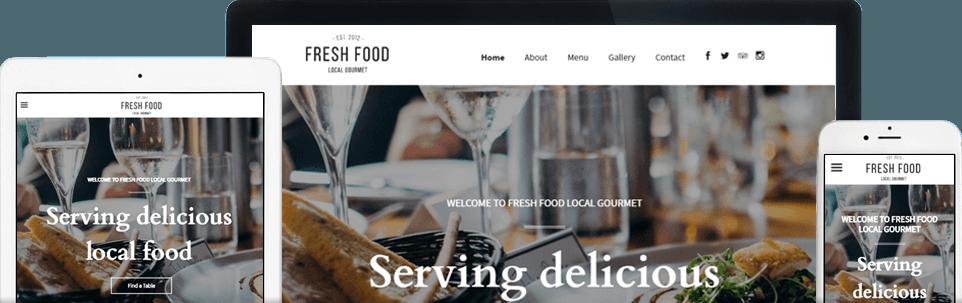 Restaurant responsive website banner