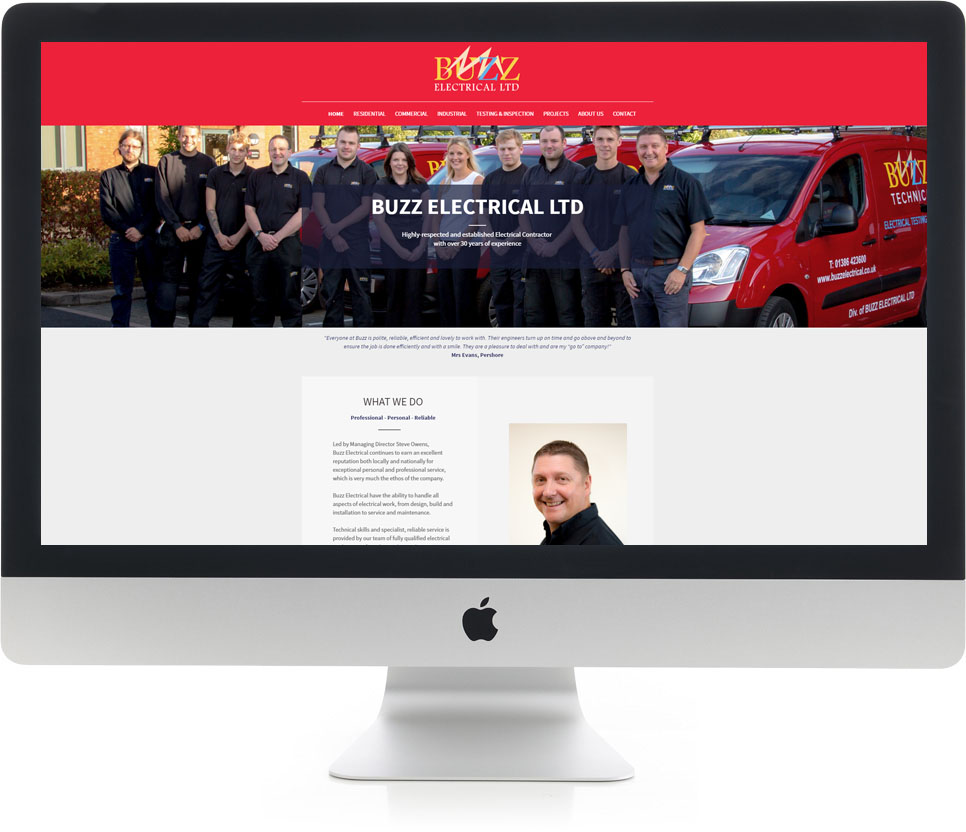 Website Design on iMac