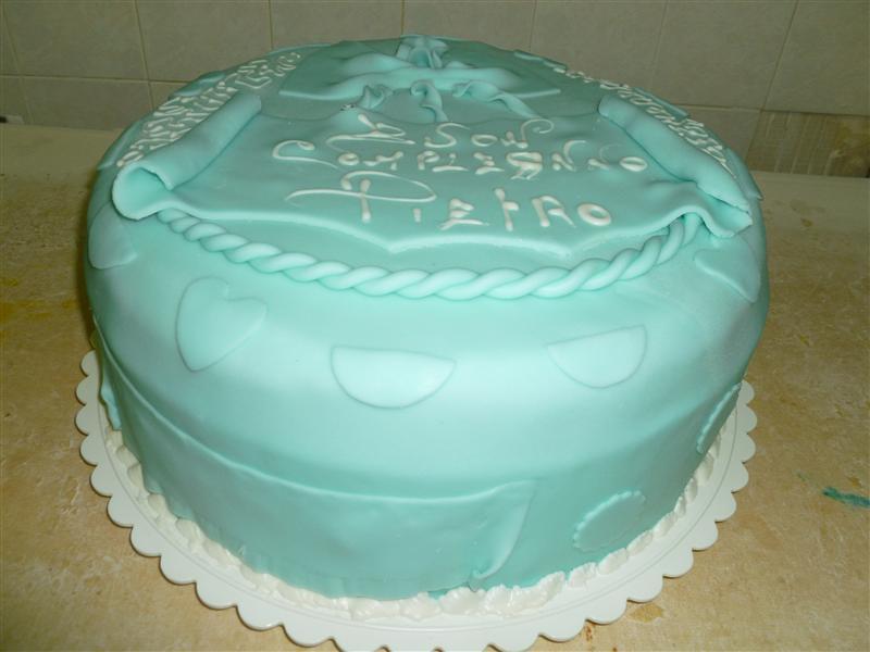 Torta di compleanno verde