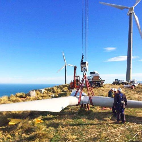 hydralift cranes working on wind farm