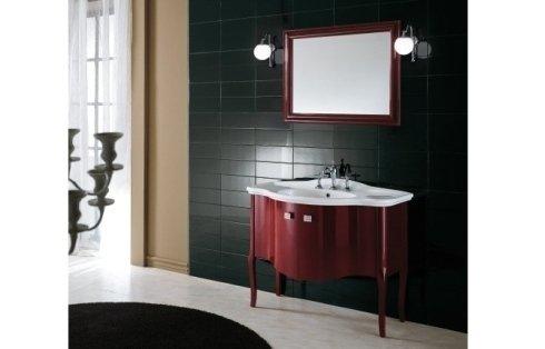 Mobile di lavabo stile nouvelle vague in colore bruno rossastro