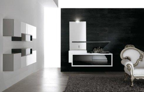 Lussuosa stanza con tappeto ,poltrona e lavandino