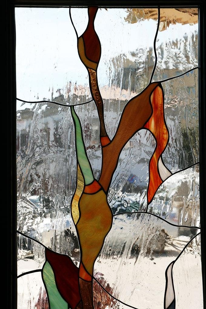 vetro rilegato con disegno stilizzato