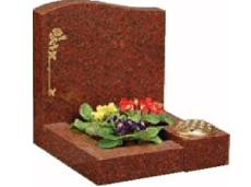 memorials - southampton, hampshire - allstone stonemasons - memorial with flowers