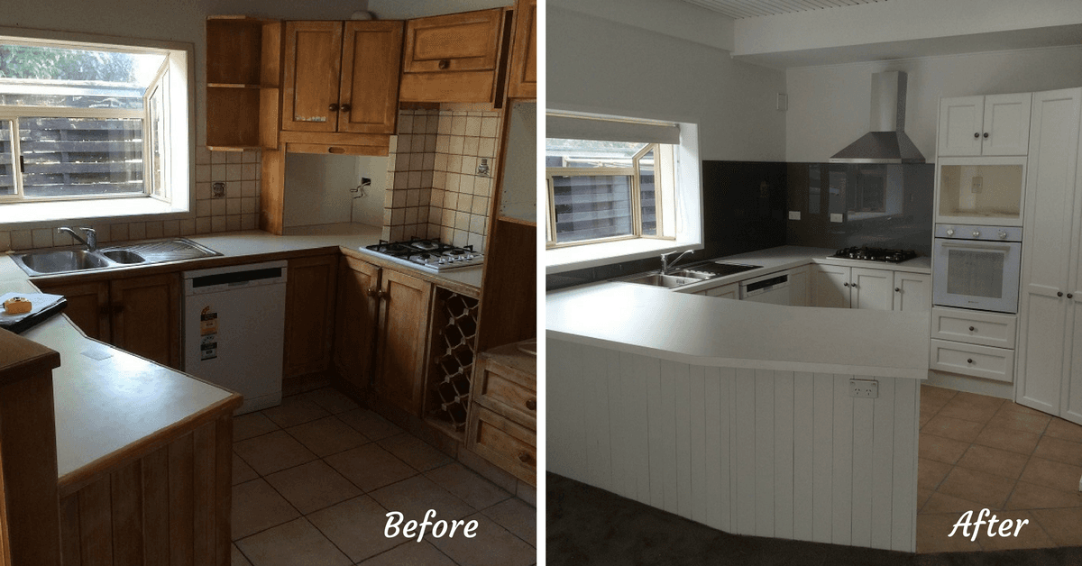 Bon Before And After Of Kitchen Remodelling In The Bay Of Plenty