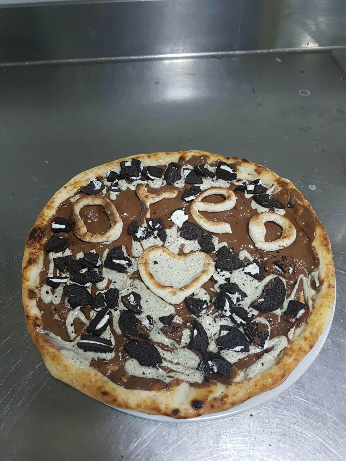 pizza oreo con nutella