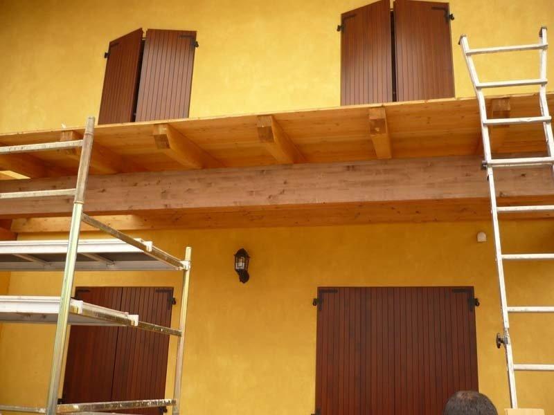 pensilina in legno