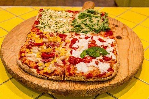 Pizza quattro in una