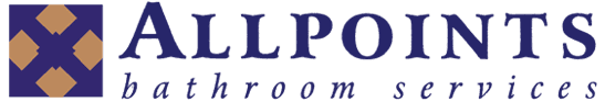 allpoints bathroom services business logo
