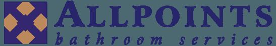 allpoints bathroom services business logo