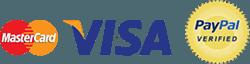 MasterCard, VISA & PayPal Logos