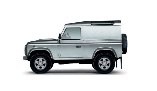 A computer image of a Land Rover Defender