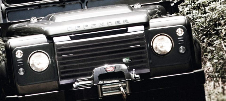 Close up of a Land Rover Defender
