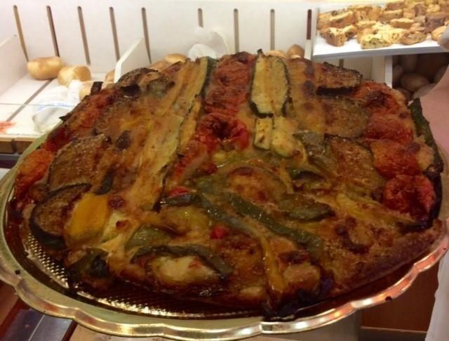 focaccia con verdure grigliate