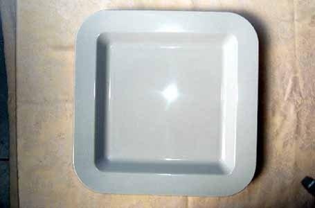 Vassoio  plastica quadrato bianco