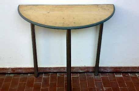 Tavolo legno mezza luna diam 80x160