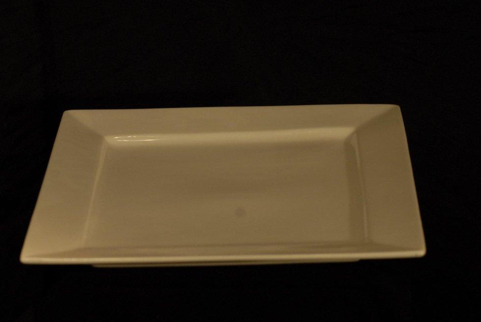 Vassoio ceramica bianco 50x50