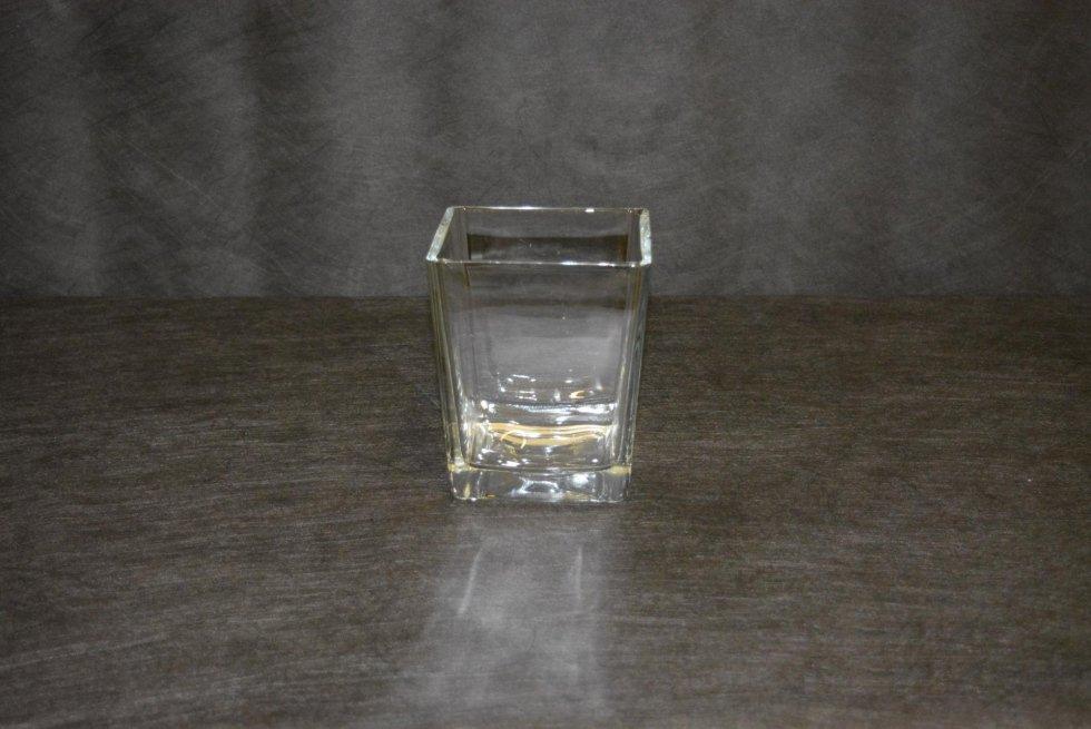 Vaso Vetro Quadrato cm17 h