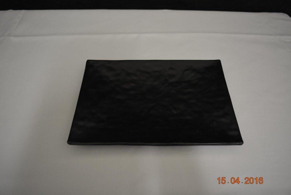 Vassoietto-piatto buffet melammina nero 30x20