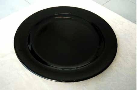 Vassoio tondo in plastica nero