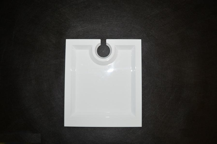 Piatto policarb.20x23  c/porta calice