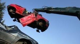 vettura, braccio meccanico, recupero rottami metallici