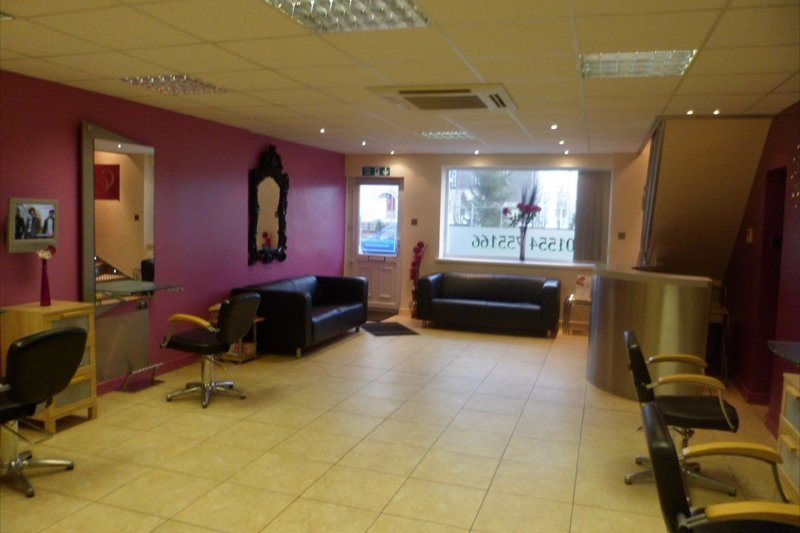 salon interior with two client sofas