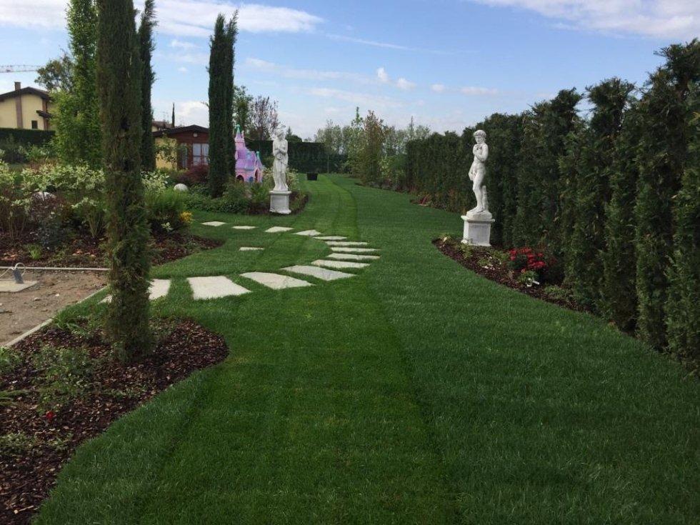 Giardino Privato Con Piscina Pavia Andrea Bariani Giardini