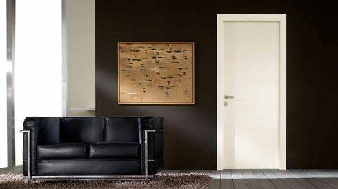 Porta per interni in laminato con divano
