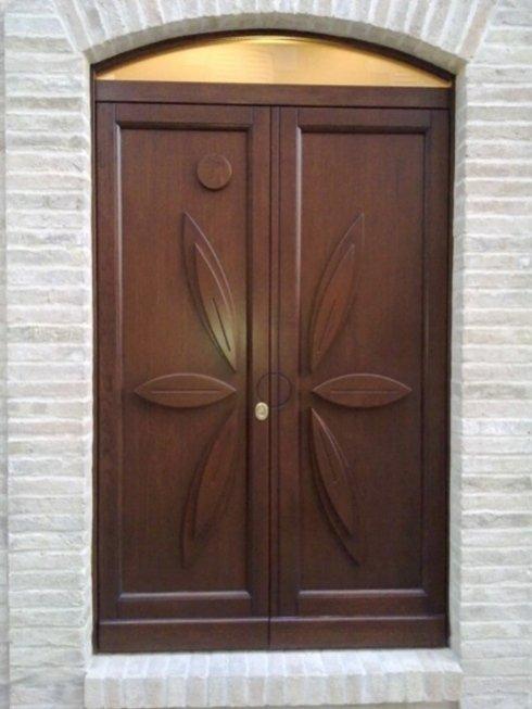 porta in massello in legno