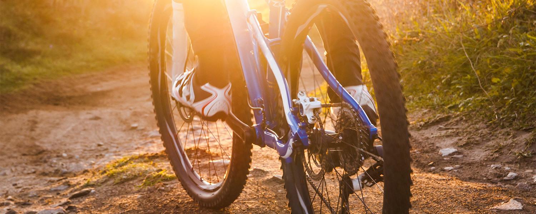 a man riding is bike