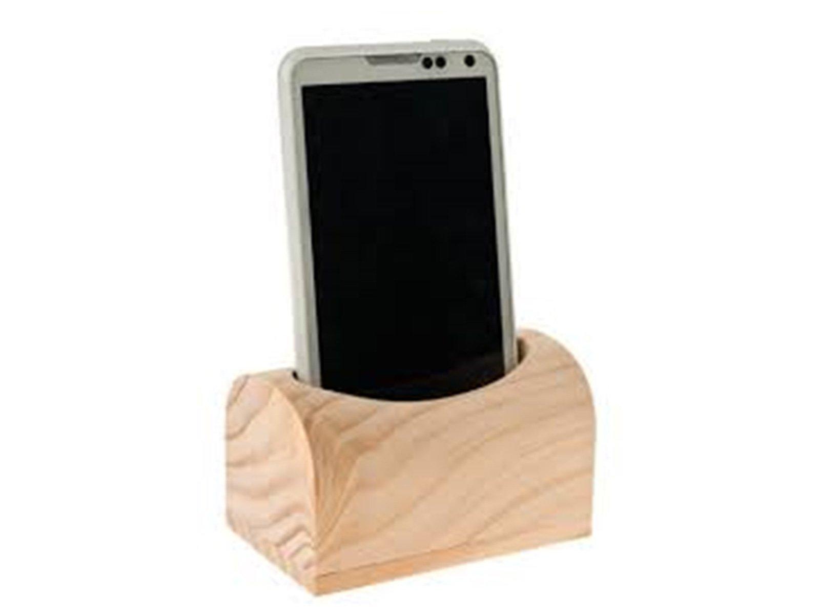 stand smartphone in legno