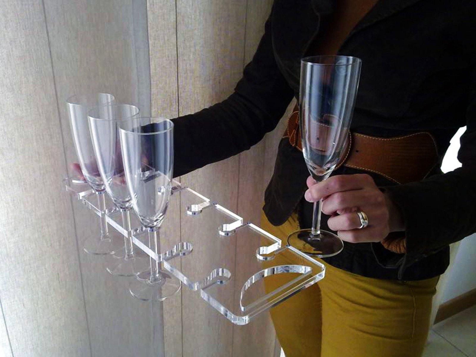porta bicchieri in plexiglass