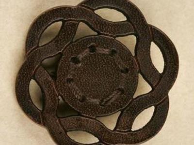 Production de boutons en cuir