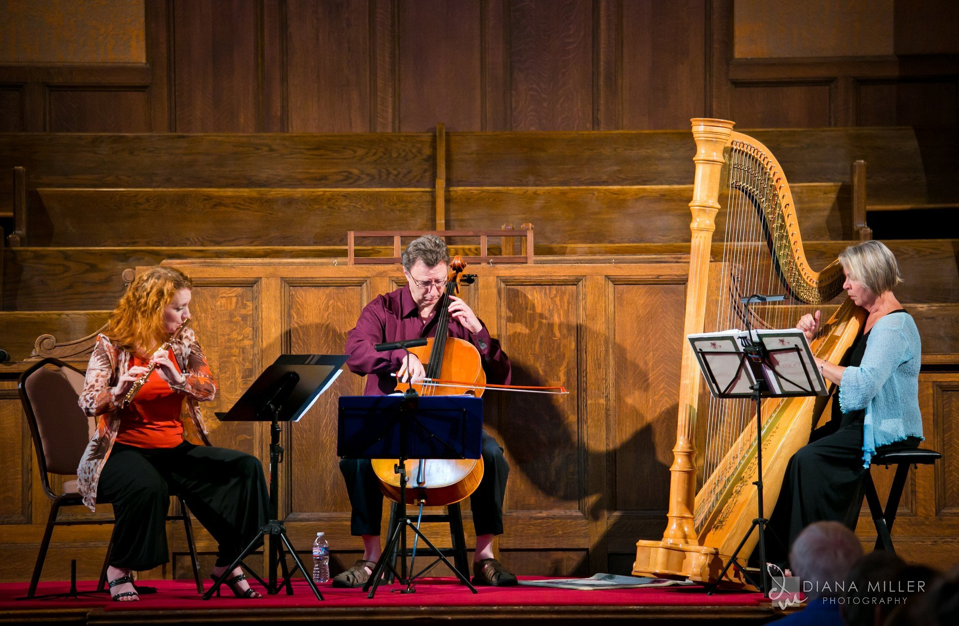 Click for pictures of the Pacific Arts Trio concert