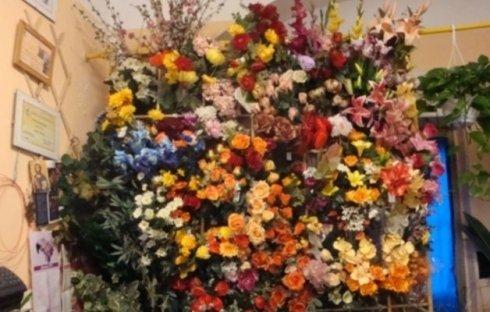 fiori secchi e artificiali