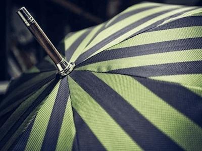 striped umbrellas milan