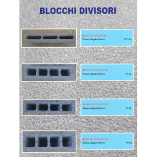 blocchi divisori per edilizia