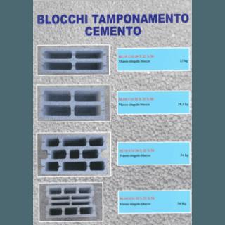 blocchi di tamponamento in cemento