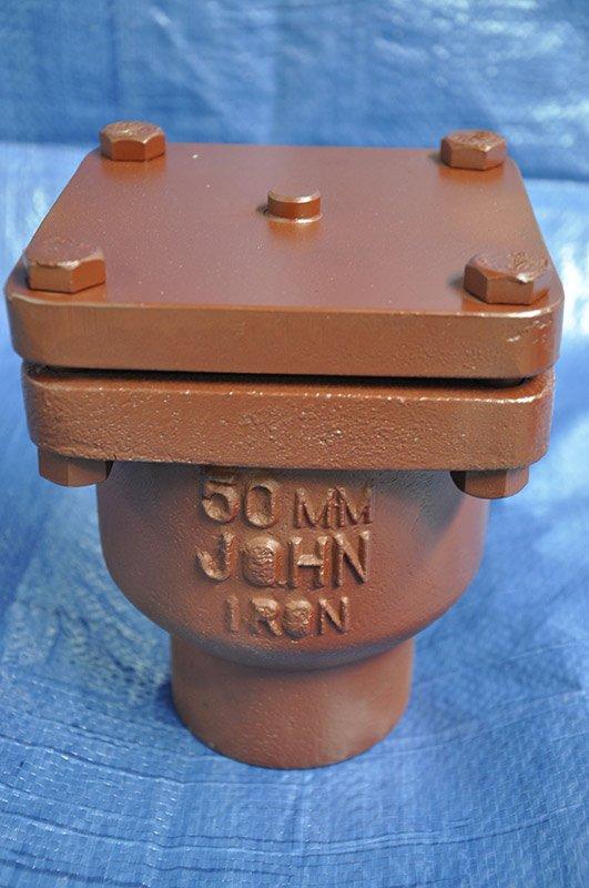 close up of john iron valve