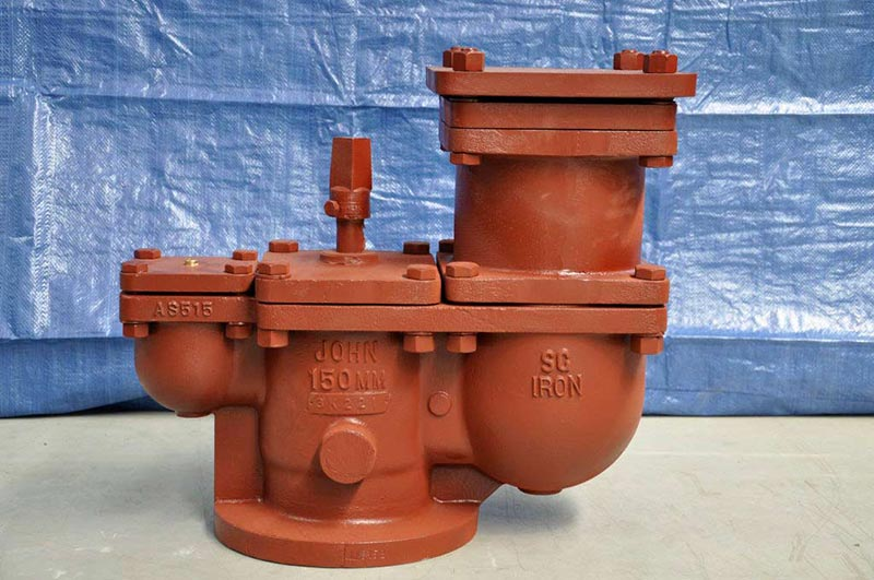 red pipe valve