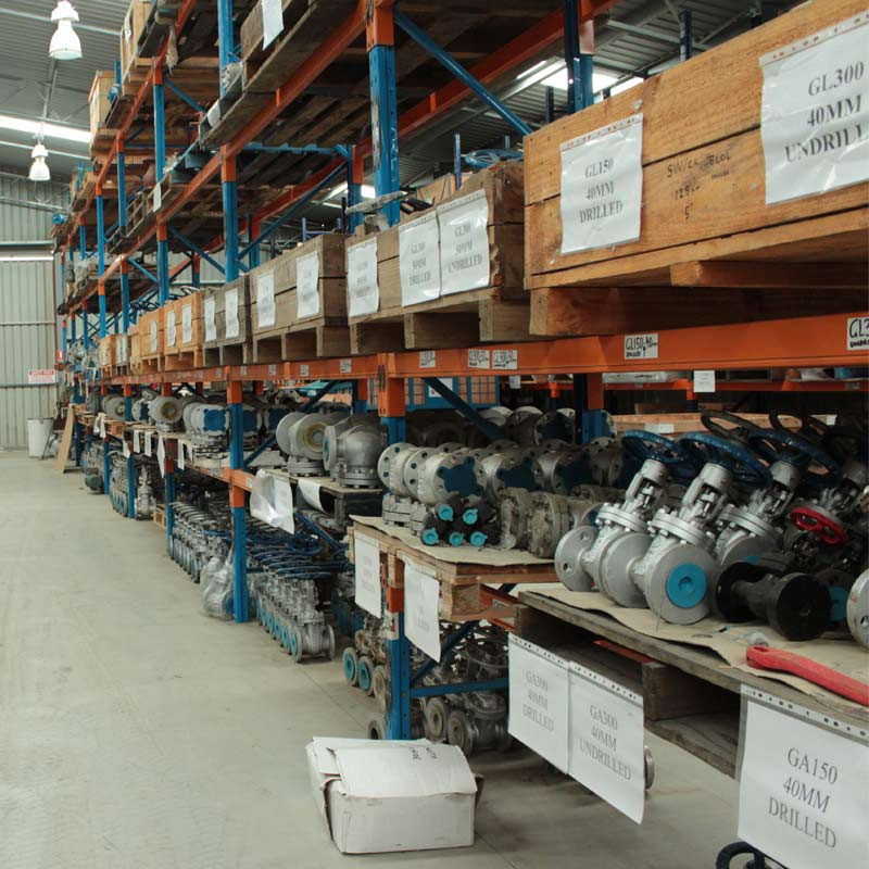 aisle full of valve products