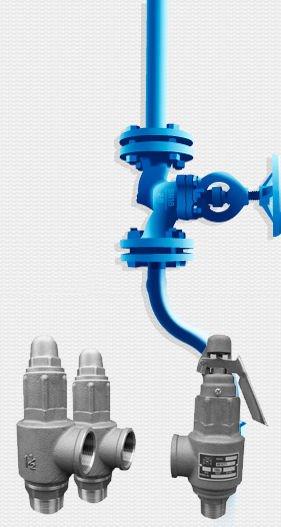 various silver valves
