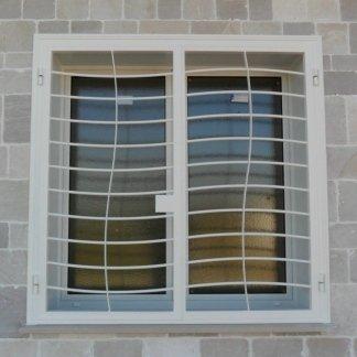finestra grate ad onda