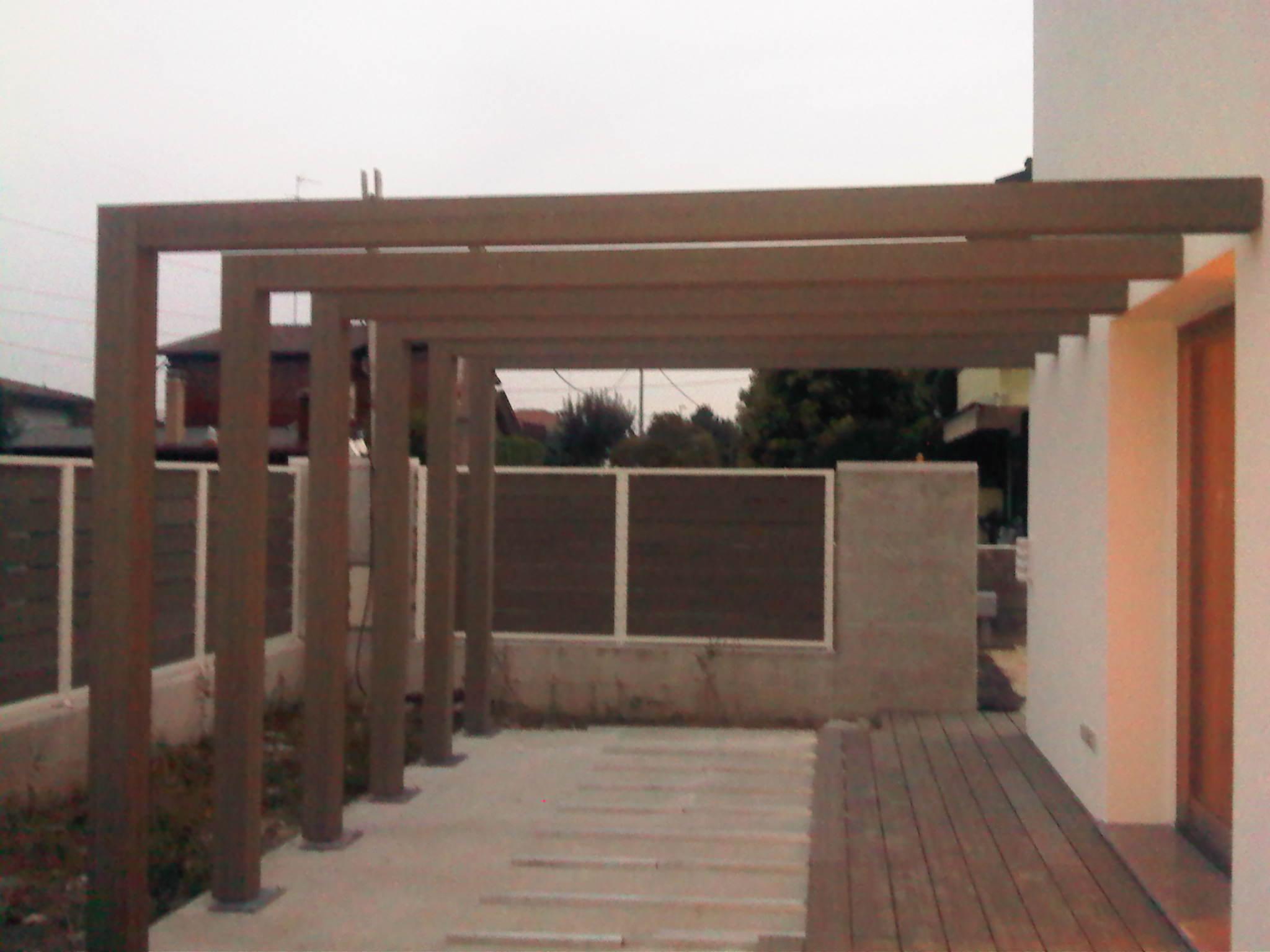 struttura in legno da esterno