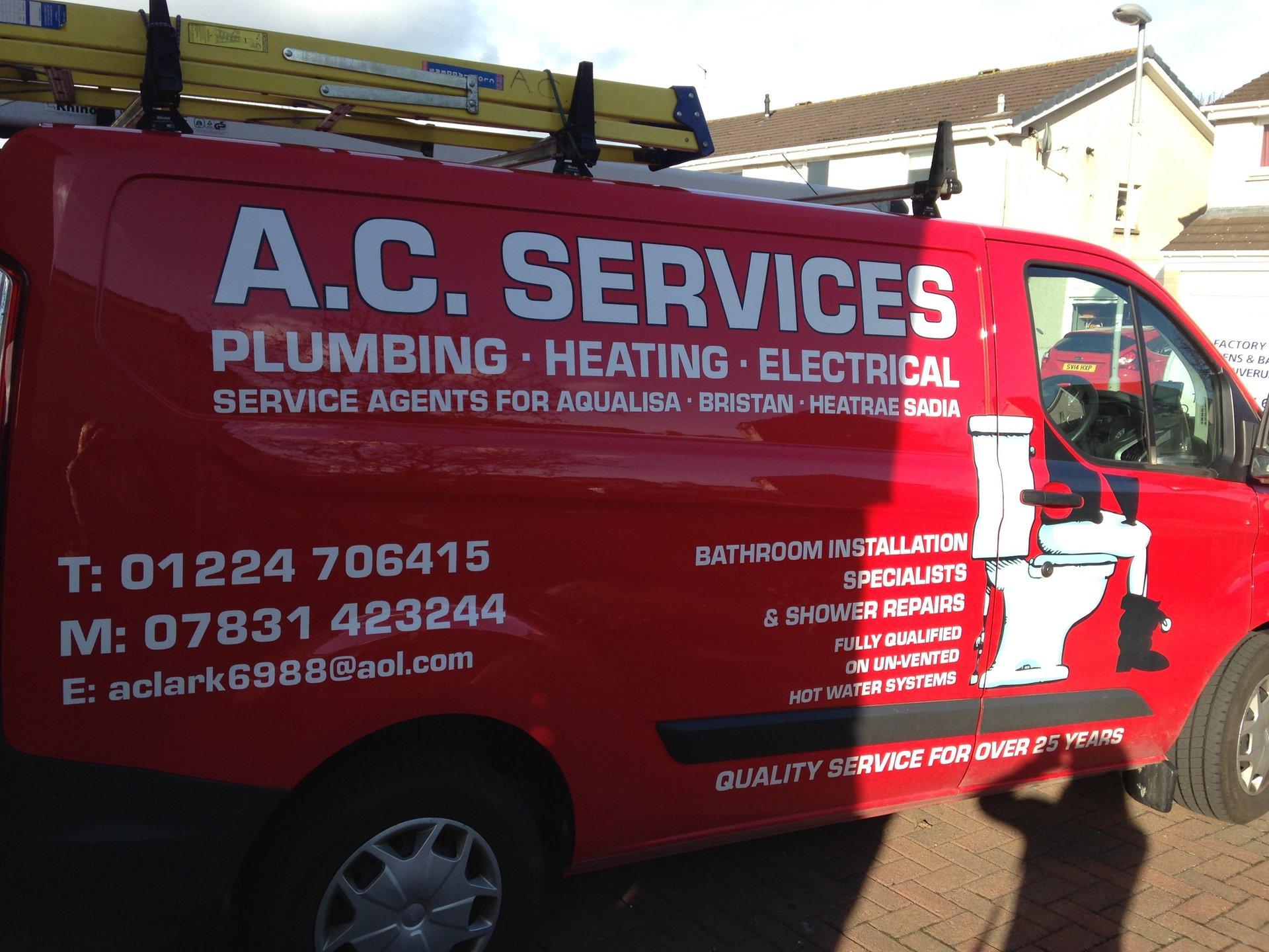 A.C services vehicle
