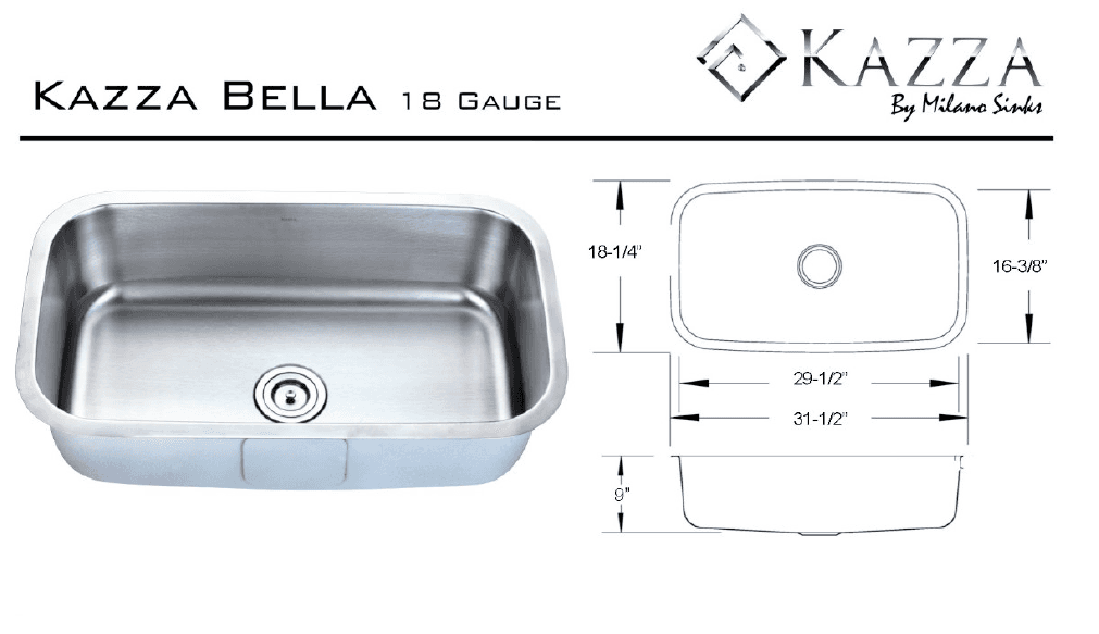 Creative Stone Countertops - Kazza Bella Stainless Steel Sinks