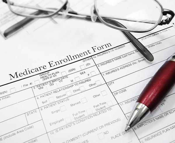 Medicare enrollment form document