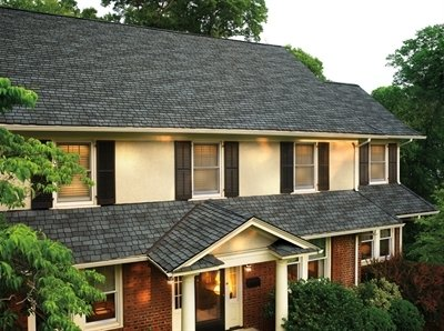 Front of home with roof with Glenwood Lifetime Designer Shingles, installed by King Quality Construction