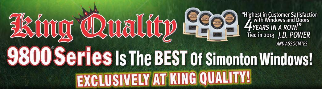 King Quality Construction installs Simonton 9800 Series Windows